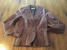 Wilsons Leather Brown Leather Jacket Women's Size S Small EUC!!!