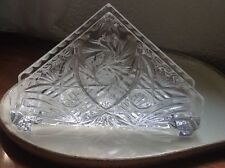 Bohemian Vintage Lausitzer 24% Lead Oxide Hand Cut Heavy Crystal Napkin Holder