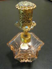 Rare Perfume Bottle - St - Pink Spray Bottle - Austria - Gold Filigree Top