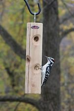 Kettle Moraine Solid Cedar Log Suet Plug Woodpecker Feeder 8318CDR Hanging