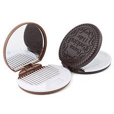 Galleta Maquillaje En forma Espejo Chocolate Peine bolsillo cooky para fiestas