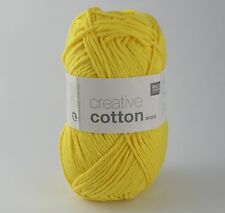 Rico Creative Cotton Aran -  Cotton Knitting & Crochet Yarn - Banana 68