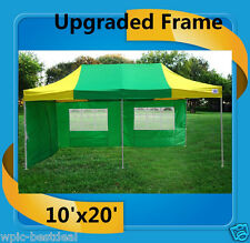 10'x20' Pop Up Canopy Party Tent EZ - Green Yellow - F Model Upgraded Frame