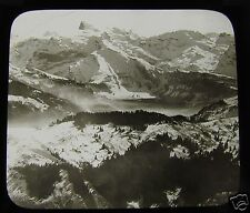 Glass Magic lantern slide VIEW FROM THE STANSERHORN C1900 SWITZERLAND L65