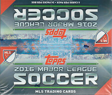 2016 Topps MLS Soccer Unopened Factory Retail Box of 24 Packs 144 Cards Total