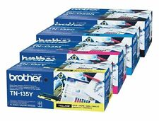 4 original tóner Brother tn-135 CMYK hl-4070cdw mfc-9840 mfc-9440cn dcp-9042cdn