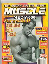 MUSCLE MEDIA FEBRUARY 1996 WITH ARNOLD SCHWARZENEGGER POSTER STILL ATTACHED 2-96