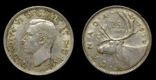 1939 Canada 25 Twenty-Five Cent Piece King George VI VF-25