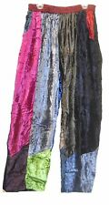 Nwt SACRED THREADS funky patch long velvet crinckled rayon PANTS 1X Free shipp