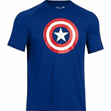 NEW UNDER ARMOUR Heat Gear Alter Ego CAPTAIN AMERICA Loose Fit shirt men 3XL