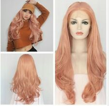 Pink Human Hair Blend Lacefront Wig 24-28 inches!!