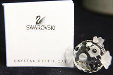Swarovski Mini Blowfish / Puffer Fish Figurine NEW IN BOX Austrian Crystal
