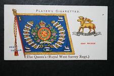 The Queen's (Royal West Surrey Regiment)    Original 1907 Vintage Colours Card