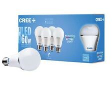 8 Bulbs (2x4 pack) 60w Cree Led Light Bulb Dimmable A19 Daylight (5000k)