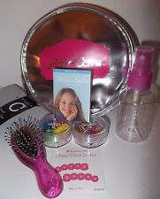 American Girl Doll Nail Care Mini Book+Travel Hairstyling Set Hairbrush+sprayer