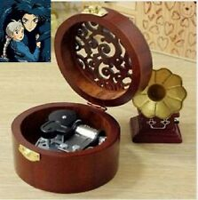 CIRCLE WOOD SILVER WIND UP MUSIC BOX :Ghibli Howl's Moving Castle Soundtrack
