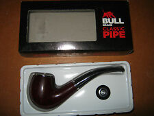Austrian Made Bull Brand Pipe, New & Boxed, Bent Billiard Shape