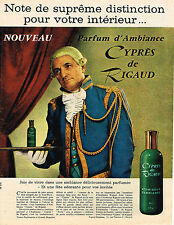 PUBLICITE ADVERTISING  1962   RIGAUD   parfum d'ambiance CYPRES