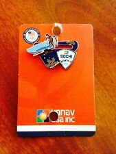 Official 2014 SOCHI RUSSIA Olympic Media Pin NBC BOBSLED SLIDER PIN