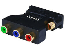 DVI-I Male to 3 RCA Component Adapter w/ DIP Switch for ATI Video Cards  2398
