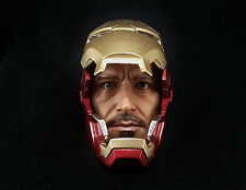 1/6 Iron Man Mark 42 Tony Stark Helmet Head Sculpt Pepper Potts Hot Toys 43 45 V