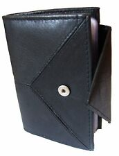 Black Stylish Leather Credit Card Holder - Holds 20 Cards Smart Card Case