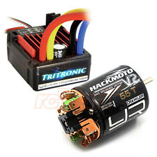 Yeah Racing Tritronic Waterproof 60A ESC V2 55T Brushed Motor Car Combo #CB0816