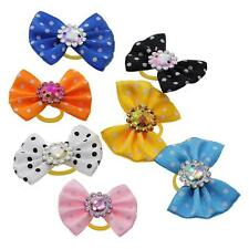 5Pcs/Lot Pet Dog Cat Hair Bows Rubber Bands Pet Grooming Hair Bows Accessories