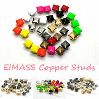 100 x Pyramid Copper Studs Rivet, Leather Crafts Costumes Bags Belts Shoes, 2188