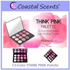 NEW Coastal Scents 12-Color THINK PINK Eye Shadow Palette w/Case FREE SHIPPING