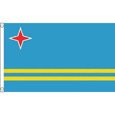 Aruba Flag 5Ft X 3Ft Caribbean Island National Country Banner With 2 Eyelets