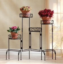 Fold Out Potted Plant Display Table Stand Flower Pot Planter Storage Holder Rack