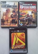 Delta Force BLACK HAWK DOWN + Land Warrior + Joint Operations Typhoon Rising PC