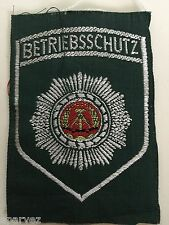 DDR East German Betriebsschutz Factory Police (Polizei) Arm Patch (original)