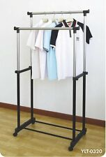 DOUBLE POLE TELESCOPIC CLOTH DRYING STAND RACK- BQ1