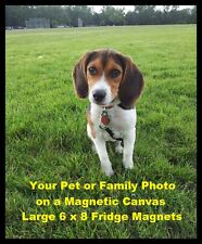 Personalized Photo FRIDGE MAGNET 6x8 Your Family or Pets Magnetic Canvas Print