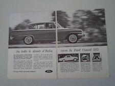 advertising Pubblicità 1962 FORD CONSUL 315