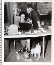 1955 Stewart Granger & Jean Simmons at Home with Pet Dogs - Original Photograph