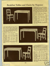 1940 PAPER AD Napanee Breakfast Dinette Dining Room Sets Table Chair
