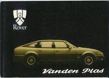 Rover SD1 3500 Vanden Plas 1981 Original Handbook In English AKM 4800 2nd Ed