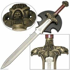Conan the Barbarian Atlantean Sword and Plaque Engraved Steel Double Edged