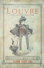 CATALOGUE- 39-MAGASINS DU LOUVRE ETE 1894-PARIS
