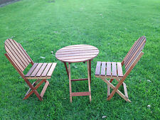 NEW OAK TIMBER FOLDABLE OUTDOOR CHAIRS AND TABLE SETS FOR GARDEN,PATIO,POOL,BBQ