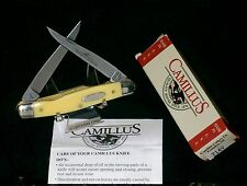 "Camillus Cutlerly 714 Muskrat Knife Inscribed Yellow Handles 3-7/8"" W/Packaging"