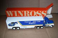 1992 Polaroid Fan-Cam Racing Tommy Ellis Winross Diecast Brop Bed Trailer Truck