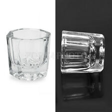 Hot 2Pcs Glass Crystal Bow Cup Container Liquid Powder Nail Art Acrylic Gel