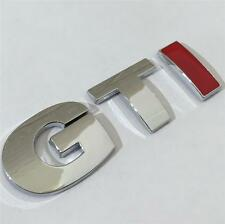 NUOVO GTI BADGE Chrome ~ Rosso per VW Golf Polo Lupo Passat Mk4 Mk5 Mk6 TDi GT TURBO