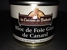 French FOIE GRAS du Canard (duck) 190g from Paris La Cuisine de Babeth DELICIOUS