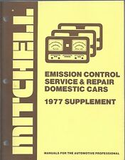 1977 Mitchell Emission Control Service Repair Supplement Domestic Cars