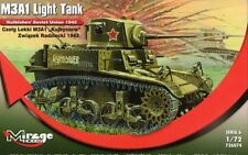 M3 A1 'KUYBYSHEV' (SOVIET MARKINGS STUART/HONEY) 1/72 MIRAGE RARE!